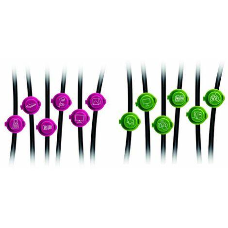 pack de 12 clips d'identification des câbles - 760003 - otio