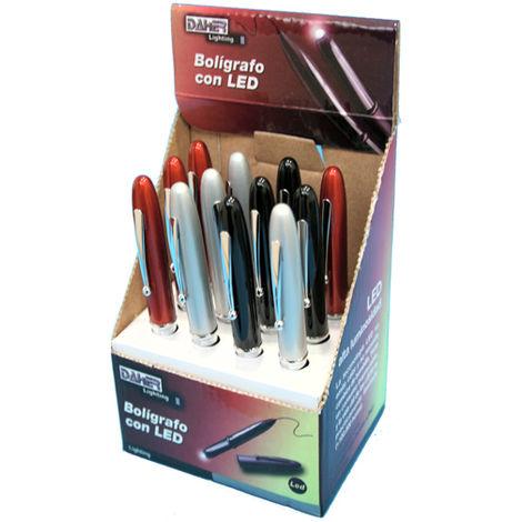 Pack de 12 pcs (exposant) Stylo à bille LED, multifonction, lignes élégantes Electro DH 60.377 843055552128556