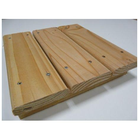 Pack de 1.9 m² soit 10 Lames de Terrasse ECO 22x95mm Douglas Naturel Déclassé 2M