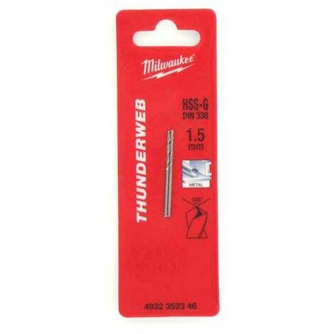 Pack de 2 bits de perforación de metal HSS-G MILWAUKEE THUNDERWEB 1,5 x 40 mm 4932352346