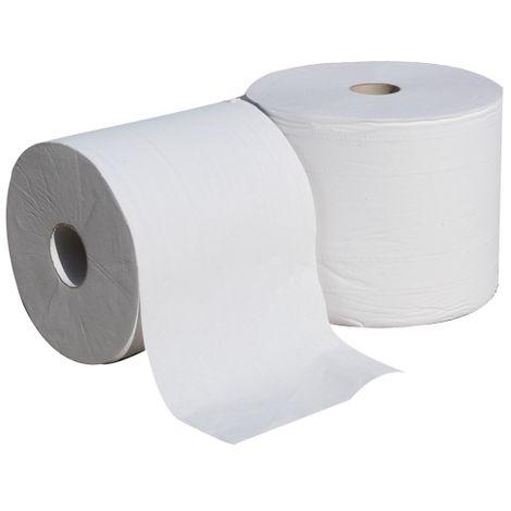 Pack de 2 bobines de papier blanc 2 plis 2x800F - 24x21 - R.7273S