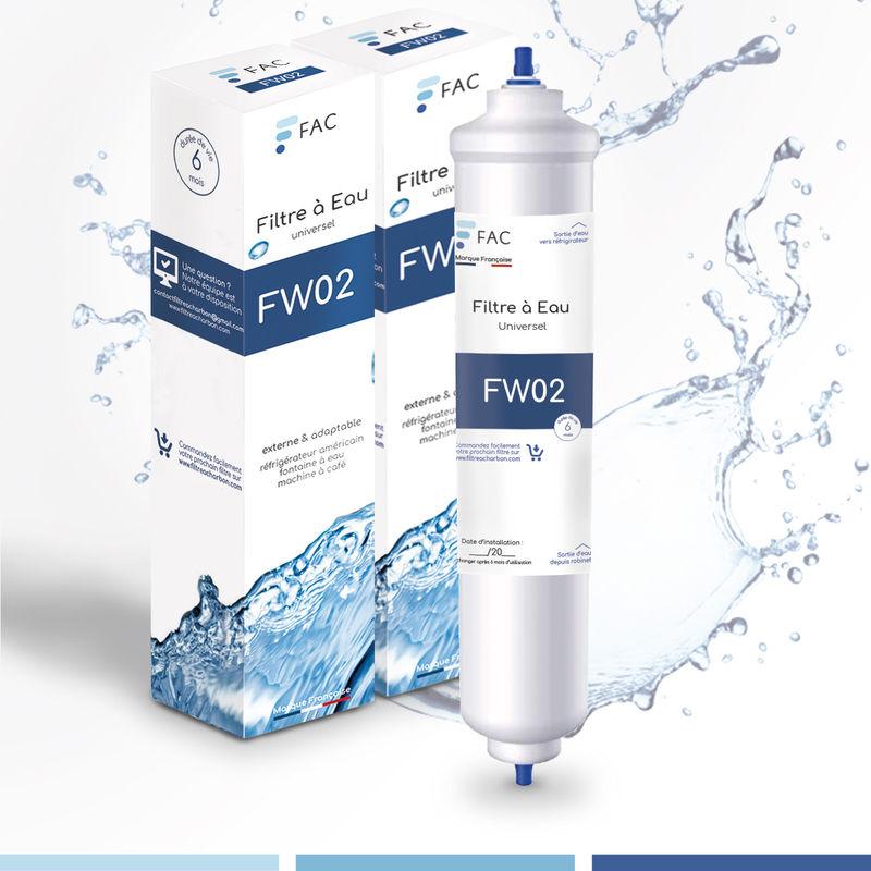 Fac - 2 * Samsung DA29–10105J - Wpro USC100/1 - Filtre à eau universel externe pour réfrigérateur Américain