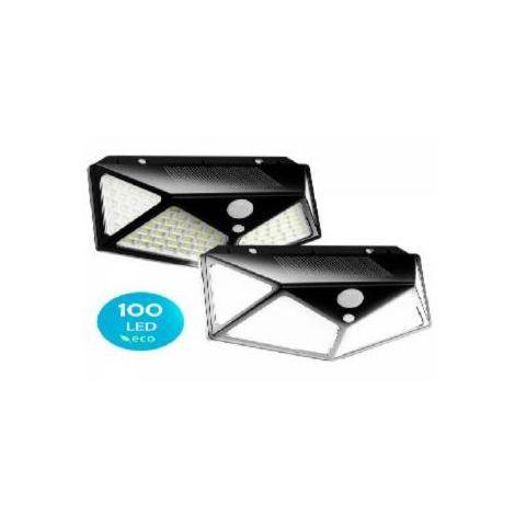 Pack De 2 Focos Solares Led Con Sensor De Movimiento / Impermeable / 3 Modos De