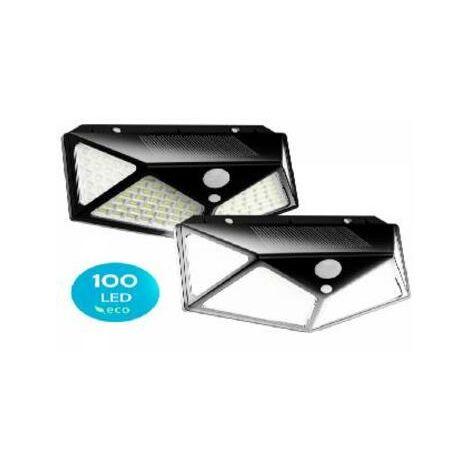 "main image of ""Pack de 2 focos solares led flux´s con sensor de movimiento - impermeable - 3 modos de iluminacion"""