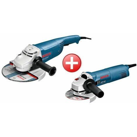 Pack de 2 meuleuses d'angle GWS 22-230H + GWS 1400 Bosch 0615990EJ0