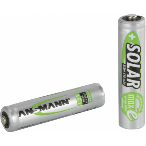 Pack de 2 pile rechargeable SOLAIRE AAA Micro 550mAh Ansmann (1311-0001)