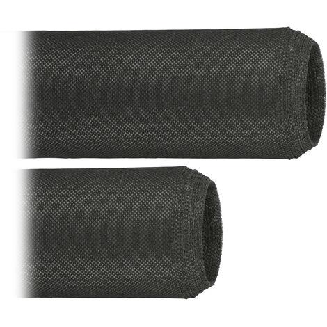 Pack de 2 Rollos de Malla Antihierbas 50 g/m² Permeable y Resistente a los Rayos UV, Polipropileno, Negro, 5 m