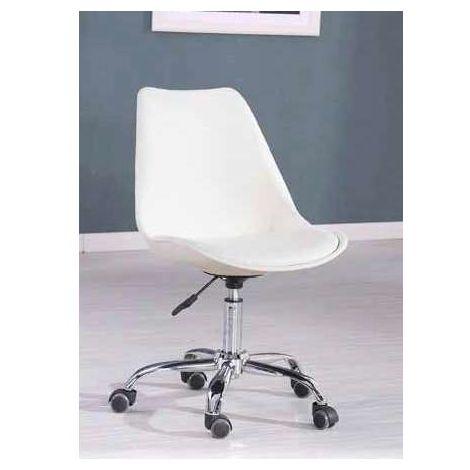 Pack de 2 sillas de oficina elevable modelo Dublin Color Blanco