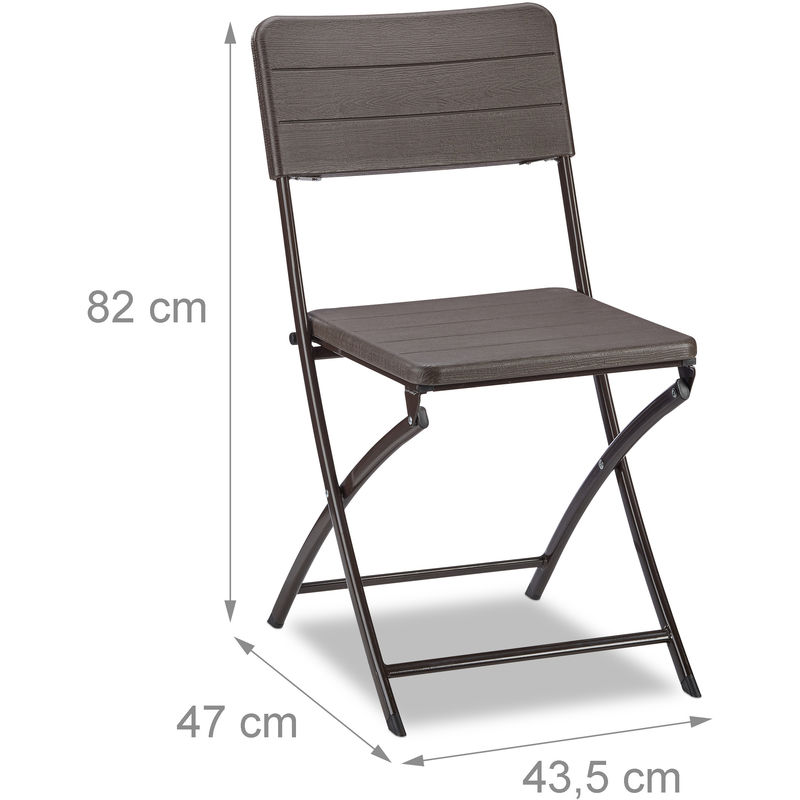 sillas jardín imitación hierro marron
