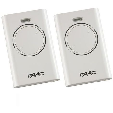 "main image of ""Pack de 2 Télécommande FAAC XT2 868 SLH BLANC"""