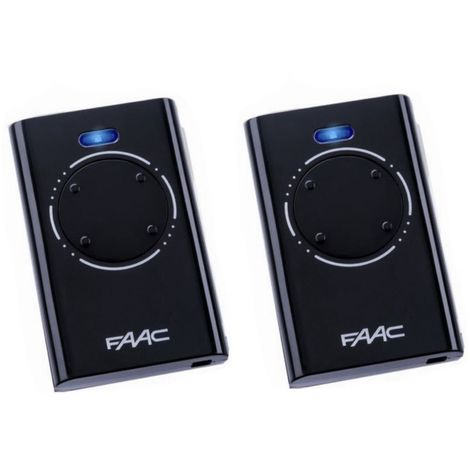 Pack de 2 Télécommande FAAC XT4 868 SLH NOIR