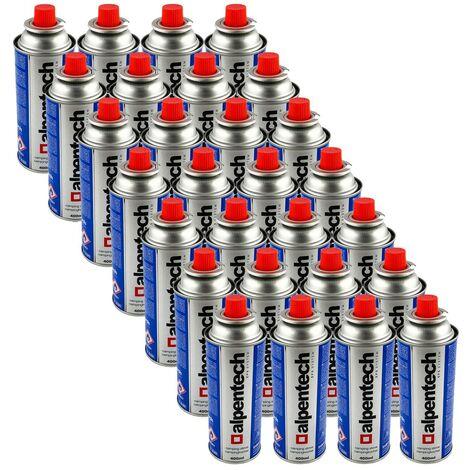 Pack de 28 cartouche gaz ALPENTECH 227g butane Bouteille de gaz UN2037 pour réchauds et désherbeurs thermiques