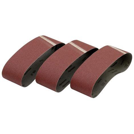Pack de 3 bandas de lija 75x533 grano 80 para DW431 - DEWALT - Ref: DT3377-QZ