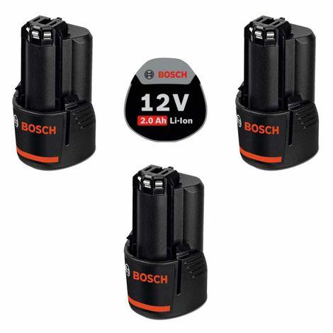 Pack de 3 batteries BOSCH PACK12V3bat2a (3 x 12V 2,0 Ah)