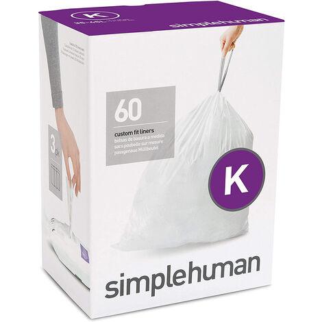 pack de 3 lots de 20 sacs poubelles 45l - cw0260-new - simplehuman