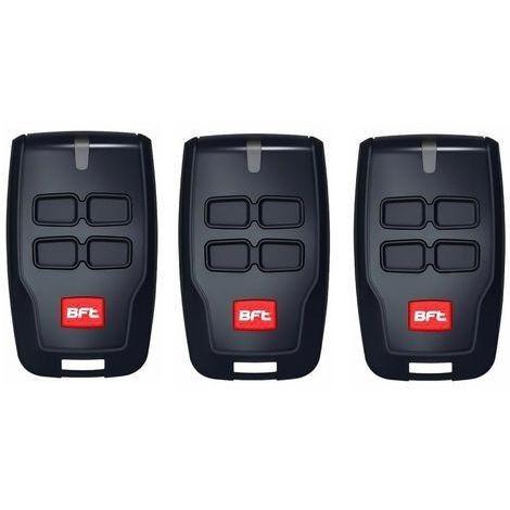 Pack de 3 télécommandes BFT Mitto B RCB04 R1 Telecommande a 4 canaux, 433,92Mhz Rolling Code - La nouvelle version de BFT Mitto4