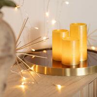 Pack de 3 Velas LED Color Dorado Special Flame
