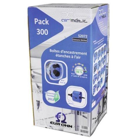 Pack de 300 boîtes encastré cloison sèche Ø67 + scie cloche