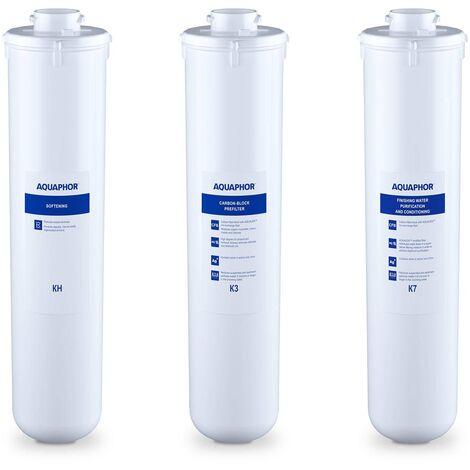 Pack De 3x Cartouche Filtrante Filtre À Eau De Rechange Charbon Actif Aquaphor