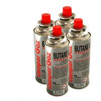 Pack de 4 cartouche gaz 227gr Camper gaz butane - bouteille de gaz à baillonnette - bonbonne pour réchauds camping