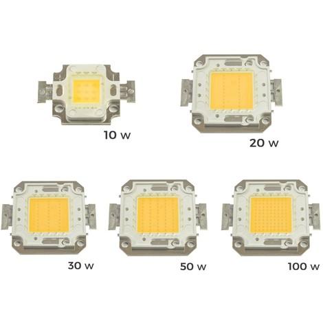Pack de 4 Placa LED de sustitución para focos luz BLANCA CALIDA 3000k vario WATT