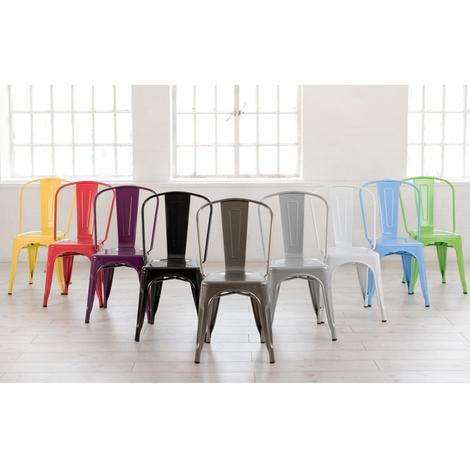 sillas de acero acabadas epoxi