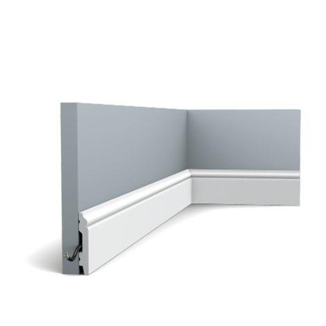 Pack de 4m Plinthe Orac Decor - 7x1x200cm (h x p x L) - plinthe décorative polymère - rigide ou flexible : rigide - conditionnement : Pack 2 pièces