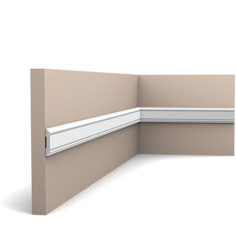 Pack de 4m PX144 Cimaise murale Orac Decor - 5x1x200cm (h x p x L) - moulure décorative polymère - rigide ou flexible : rigide - conditionnement : Pack 2 pièces