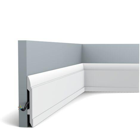 Pack de 4m SX104 Plinthe Orac Decor - 15x1,5x200cm (h x p x L) - plinthe décorative polymère - rigide ou flexible : rigide - conditionnement : Pack 2 pièces
