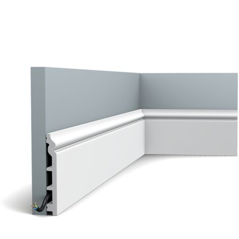 Pack de 4m SX118 Plinthe Orac Decor - 14x1,8x200cm (h x p x L) - plinthe déco polymère - rigide ou flexible : rigide - conditionnement : Pack 2 pièces