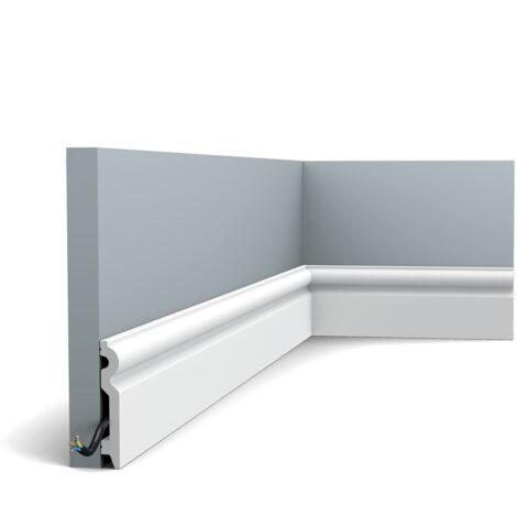 Pack de 4m SX137 Plinthe Orac Decor - 10x1,5x200cm (h x p x L) - moulure décorative polymère - rigide ou flexible : rigide - conditionnement : Pack 2 pièces