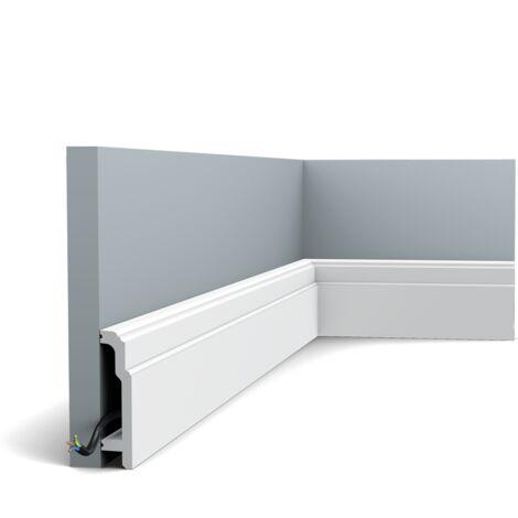 Pack de 4m SX155 Plinthe Orac Decor - 11x2,5x200cm (h x p x L) - plinthe décorative polymère - rigide ou flexible : rigide - conditionnement : Pack 2 pièces