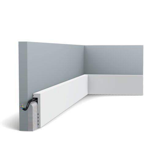 Pack de 4m SX171 Plinthe Orac Decor - 10x2,2x200cm (h x p x L) - surplinthe décorative polymère - Conditionnement : Pack 2 pièces