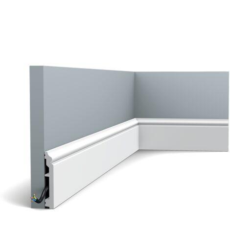 Pack de 4m SX173 Plinthe Orac Decor - 10 x1,6x200cm (h x p x L) - plinthe décorative polymère - rigide ou flexible : rigide - conditionnement : Pack 2 pièces