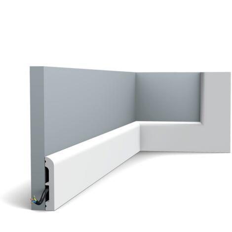 Pack de 4m SX183 Plinthe Orac Decor 7,5x1,3x200cm (h x p x L) - plinthe décorative polymère - rigide ou flexible : rigide - longueur : 200cm - conditionnement : Pack 2 pièces