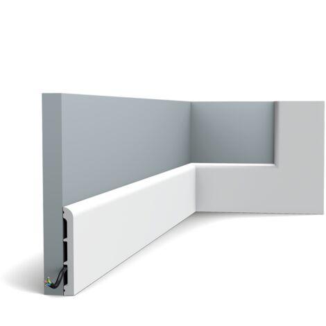 Pack de 4m SX184 Plinthe Orac Decor - 11x1,3x200cm (h x p x L) - plinthe décorative polymère - rigide ou flexible : rigide - longueur : 200cm - conditionnement : Pack 2 pièces