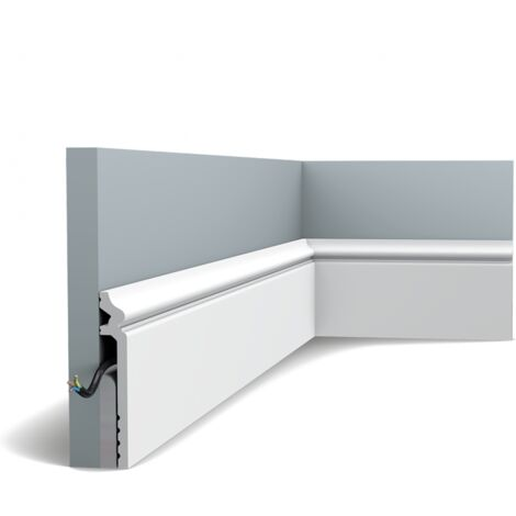 Pack de 4m SX186 Plinthe Orac Decor - 13,8x2,2x200cm (h x p x L) - surplinthe décorative polymère - Conditionnement : Pack 2 pièces