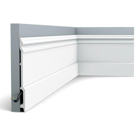 Pack de 4m SX191 Plinthe Orac Decor - 21x2,1x200cm (h x p x L) - plinthe décorative polymère - Conditionnement : Pack 2 pièces