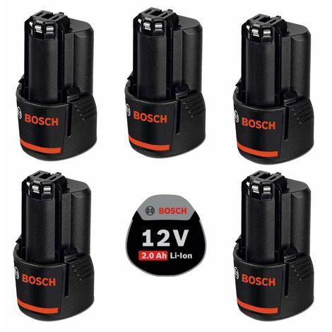 Pack de 5 batteries BOSCH PACK12V5bat2a (5 x 12V 2,0 Ah)