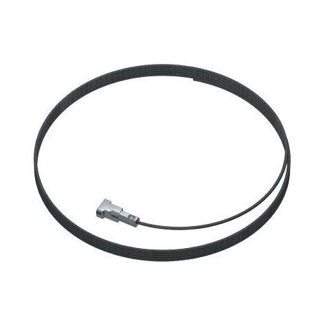 Pack de 5 Câbles acier Twister Micro Noir 300 cm pour cimaise 1mm - Accessoire Cimaise Artiteq - longueur : 300 cm - conditionnement : pack de 5