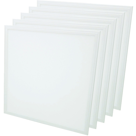 Pack de 5 Dalle 40W 600x600mm Lifud Blanc Neutre complete avec alimentation Lifud
