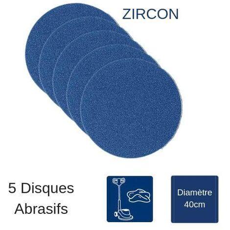 Pack de 5 disques de ponçage Zircon pour monobrosse parquet - 400mm