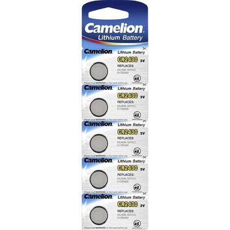 Pack de 5 piles Camelion Lithium 3V CR2025 (13005025)