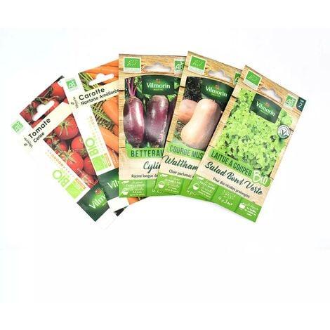 Pack de 5 sachets de graines potagères BIO