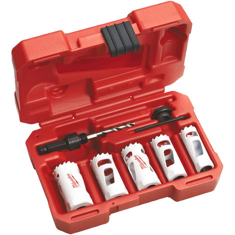 Pack de 5 scies cloche Hole Dozer Milwaukee 19 mm - 32 mm 49224083