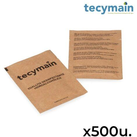 Pack de 500 lingettes hydroalcooliques tecymain.