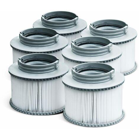 Pack de 6 filtres V1 pour spa MSPA - Camaro, Super Camaro, Alpine 4 et 6, Silver Cloud 4 et 6, Bliss 6 et Mono 6 - 6 Cartouches filtrantes de remplacement pour jacuzzi gonflable mspa
