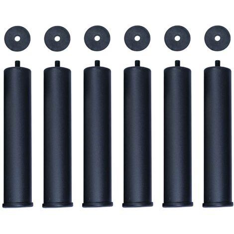 Pack de 6 Patas de Hierro Redondas para Bases de Somier de Cama