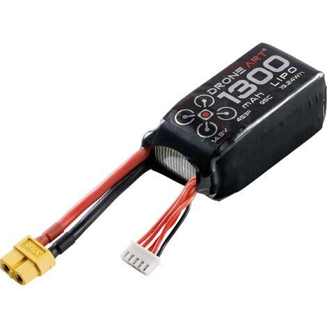 Pack de batterie (LiPo) 14.8 V 1300 mAh DroneArt 89223RC.019 Nombre de cellules: 4 95 C Softcase XT60 1 pc(s) D616881