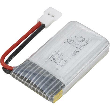 Pack de batterie (LiPo) 3.7 V 380 mAh Hubsan H107-a24 Softcase cosse plate mâle V762471